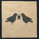 """Crows With Star Napkin<br><div class=""""desc"""">This Crows With Star Napkin is perfect for a Country or Primitive style kitchen or dinette.</div>"""