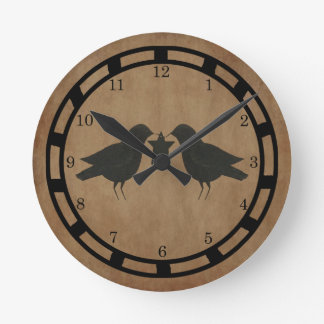 Crows With Star Wall Clock