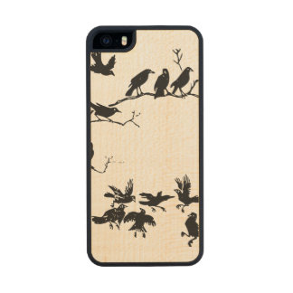 Crows Wood Phone Case For iPhone SE/5/5s