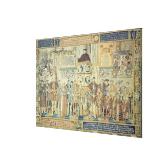 Croy Tapestry, 1554 Canvas Print