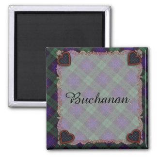 Crozier clan Plaid Scottish kilt tartan 2 Inch Square Magnet