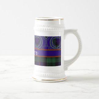 Crozier clan Plaid Scottish kilt tartan Beer Stein