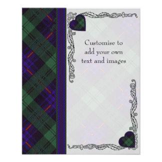 Crozier clan Plaid Scottish kilt tartan Flyer