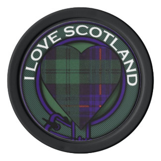 Crozier clan Plaid Scottish kilt tartan Set Of Poker Chips