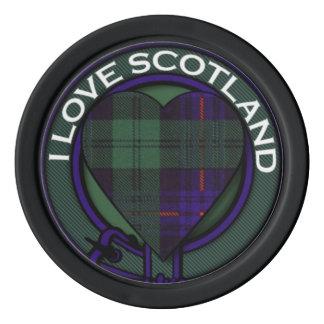 Crozier clan Plaid Scottish kilt tartan Set Of Poker Chips