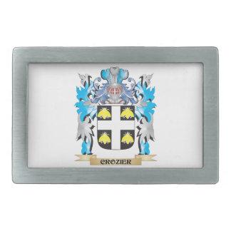 Crozier Coat of Arms - Family Crest Rectangular Belt Buckles