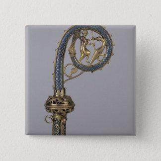 Crozier depicting St. Michael Pinback Button