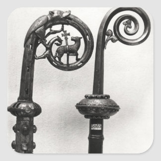 Crozier of the Abbots of Clairvaux Square Sticker