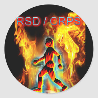 CRPS Blazing Figure in Ice Classic Round Sticker