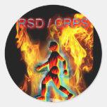 CRPS Blazing Figure in Ice Stickers