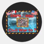 CRPS Civil War to ? Blazing Figures Round Stickers