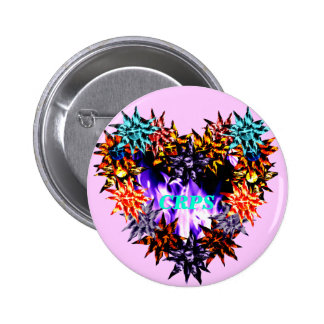 CRPS Growing Awareness Purple Flame Lava Blooms He 2 Inch Round Button