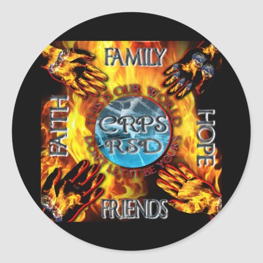 CRPS Keeping our World Turning  Classic Round Sticker