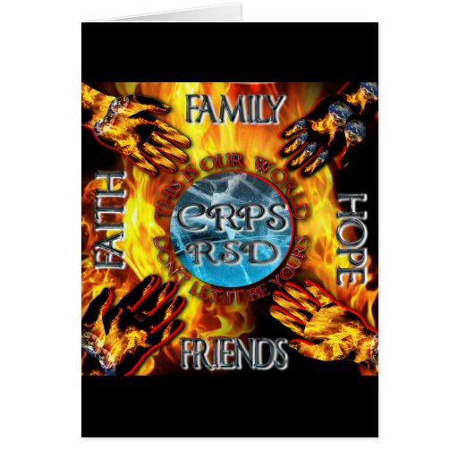 CRPS Keeping our World Turning  Greeting Cards
