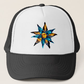 CRPS Lava Blooms Blazing Earth & Glacier Petals Trucker Hat