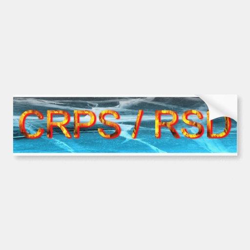 CRPS/pegatina para el parachoques del fuego y del  Etiqueta De Parachoque