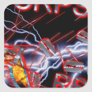 CRPS Razor blades & needles Square Sticker