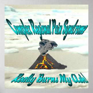 CRPS Really Burns My Ash Erupting Volcano Glacier Poster