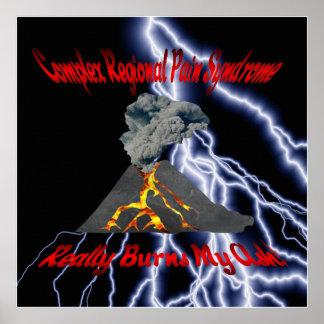 CRPS Really Burns My Ash Lightning Storm Poster
