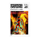 CRPS / RSD Awareness Blazing Figure in Ice Stamp