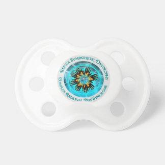 CRPS RSD Awareness Blazing Hand Starburst Circlet BooginHead Pacifier