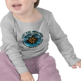 CRPS RSD Awareness World of Fire Ice Logo T-shirts