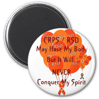 CRPS RSD Balloons Hope Over Pain Phoenix Ribbon 2 Inch Round Magnet