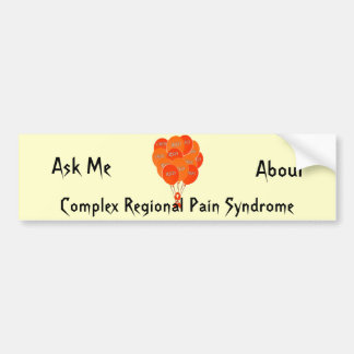 CRPS RSD Balloons Hope Over Pain Phoenix Ribbon Bumper Sticker