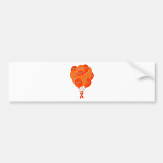 CRPS RSD Balloons Hope Over Pain Phoenix Ribbon Bumper Sticker