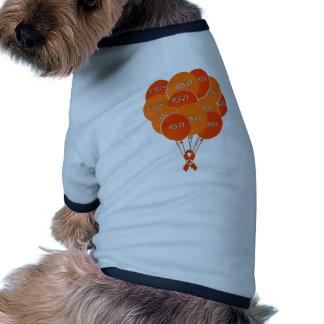 CRPS RSD Balloons Hope Over Pain Phoenix Ribbon Doggie T Shirt