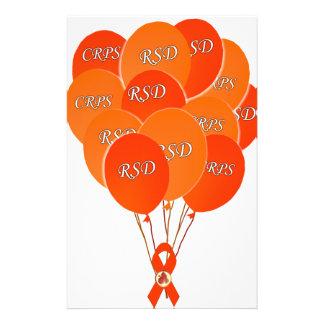 CRPS RSD Balloons Hope Over Pain Phoenix Ribbon Stationery