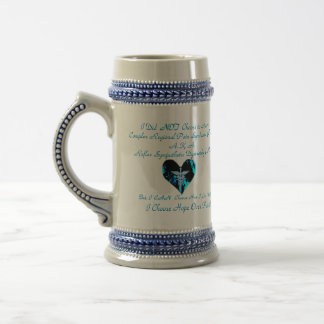 CRPS RSD Blue Heart of Flames I Choose Hope Over P Beer Stein