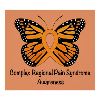 CRPS/RSD Butterfly of Hope Ribbon Poster