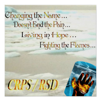 CRPS RSD Changing the Name Doesn't End the Pain Poster