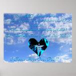 CRPS/RSD elijo esperanza sobre el cielo azul y Clo Póster