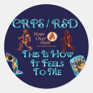 CRPS RSD esto es cómo siente a mí el SALTO Pegatina Redonda