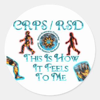 CRPS/RSD esto es cómo siente a mí Pegatina Redonda