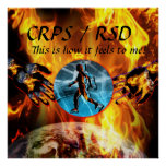 ¡CRPS/RSD esto es cómo siente a mí!  Poster de Blz