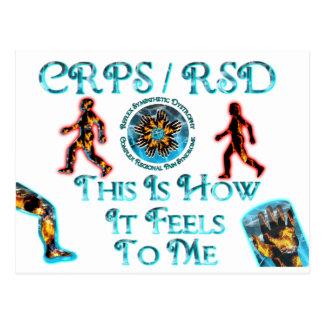 CRPS RSD esto es cómo siente a mí Postales