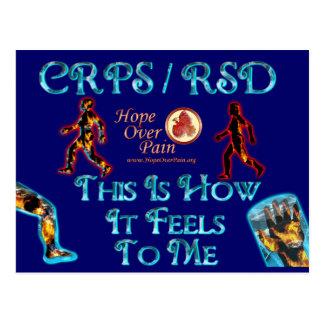 CRPS RSD esto es cómo siente a mí Tarjeta Postal