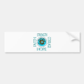 CRPS RSD Faith Courage Strength Hope Blazing Hands Bumper Sticker