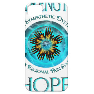 CRPS RSD Faith Courage Strength Hope Blazing Hands iPhone 5 Cover
