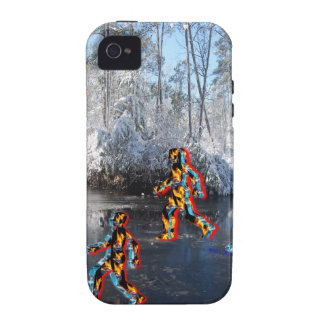 CRPS RSD FIre & Ice FIgures on Frozen NC Landcape Case-Mate iPhone 4 Covers