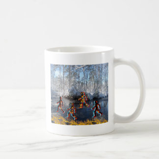 CRPS RSD FIre & Ice FIgures on Frozen NC Landcape Classic White Coffee Mug