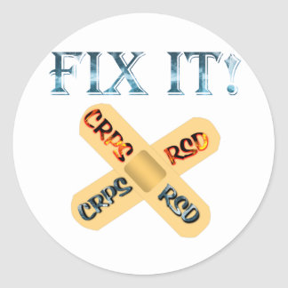 CRPS / RSD Fix It ! Band Aid X Classic Round Sticker