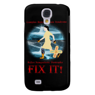 CRPS / RSD Fix It! Red & Black iPhone 3/3GS Case Samsung Galaxy S4 Cover