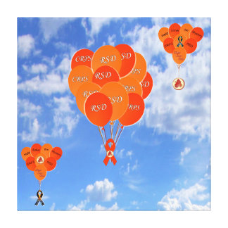 CRPS RSD Help Solve the Mystery Balloons Stretched Canvas Print