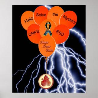 CRPS RSD Help Solve the Mystery Black Lightning Poster
