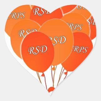 CRPS RSD hincha esperanza sobre la cinta de Pegatina En Forma De Corazón