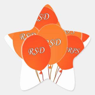CRPS RSD hincha esperanza sobre la cinta de Pegatina En Forma De Estrella